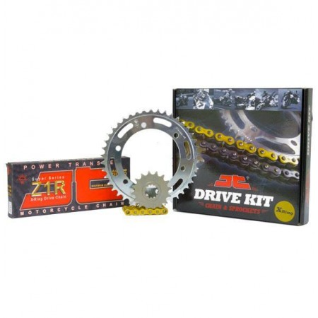 """Σετ Γρανάζια-Αλυσίδα κινήσεως JT για Honda XLV1000 '99-13 """"Χρυσή Αλυσίδα X 'ring (Z1RGG)"""""""