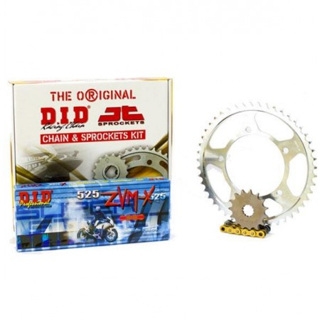 """Σετ Γρανάζια-Αλυσίδα κινήσεως DID-JT για KTM Adventure 990 '05-'09 """"Χρυσή Αλυσίδα X 'ring (ZVM-X G&G)"""""""