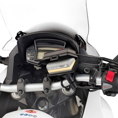Givi Telepass S601 θήκη συσκευή μικροαντικειμένων με βάση για σωληνωτό τιμόνι