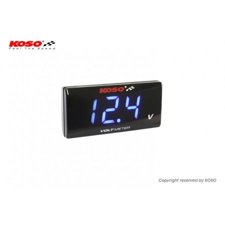 Βολτόμετρο ψηφιακό Koso (μπλε) superslim