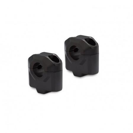 Αποστάτες SW-Motech 30mm για τιμόνια Ø22mm μαύροι