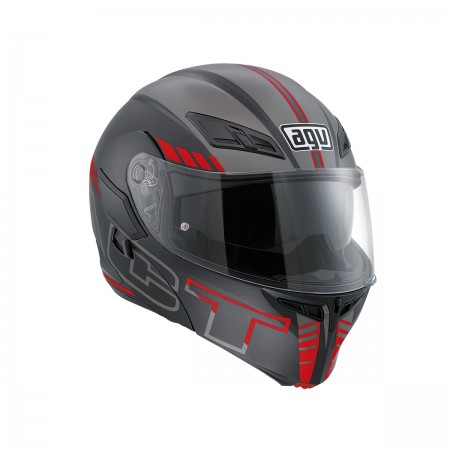 AGV COMPACT ST E2205 MULTI - SEATTLE MATT BLUE/WHITE/RED ανοιγόμενο κράνος
