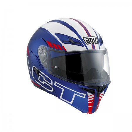 AGV COMPACT ST E2205 MULTI - SEATTLE MATT BLACK/SILVER/RED ανοιγόμενο κράνος