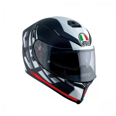 AGV K-5 S E2205 MULTI - DARKSTORM MATT BLACK/RED
