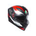 AGV K-5 S E2205 MULTI PLK - MARBLE MATT BLACK/WHITE/RED