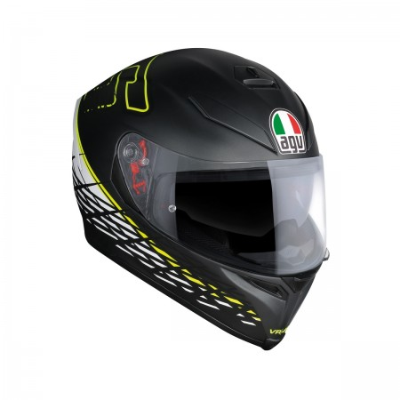 AGV K-5 S E2205 TOP - THORN 46 MATT BLACK/WHITE/YELLOW