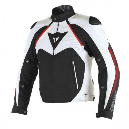 DAINESE HAWKER D-DRY® JACKET Αδιάβροχο μπουφάν BLACK/WHITE/RED