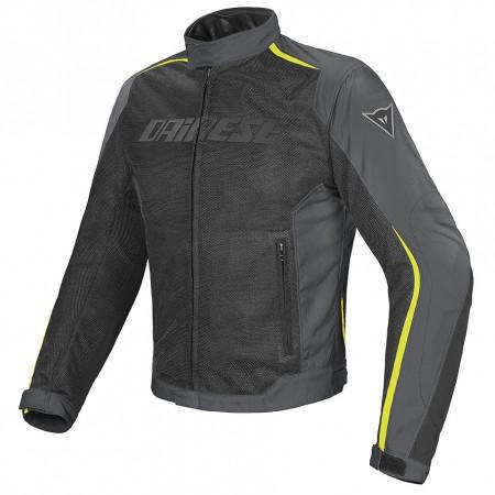 DAINESE HYDRA FLUX D-DRY® καλοκαιρινό αδιάβροχο μπουφάν black/dark-gull-gray/fluo-yellow