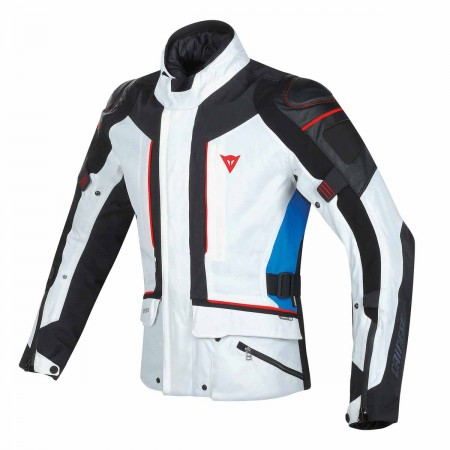 DAINESE D-CYCLONE GORE-TEX® JACKET GLACIER-GRAY/BLACK/STRONG-BLUE