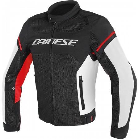 DAINESE AIR-FRAME D1 TEX καλοκαιρινό μπουφάν μαύρο/κόκκινο/άσπρο